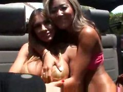 Kara Tai Plays With Her Friend, Her Friend Fucks Black Dude After