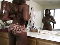 Titty Ebony With Sweet Piercing Pussy Satisfaction