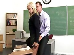 Busty Blonde Teen Getting Her Pussy Rammed Hard By The Horny Dean