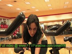 Luna, From Ftv Girls, Gorgeous Brunette Girl In A Gym