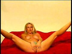 Blond Hooker Using Her Dildo