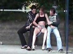 Public Group Sex On Bus Stop