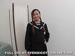 Petit Asian Tia Tanaka Takes A Big Dick