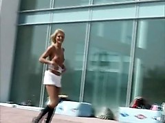 Sexy Blond Nude In Streets