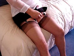 Squirting On My Nylons