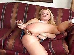 Jessica Dee Rammed By 2 Black Cocks