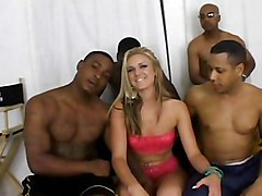 Blond Slut On Black Dicks