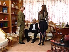 Lingerie Slut In Stockings Threesome - Anal & Facial
