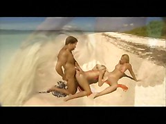 Two Blonds And One Guy On The Beach  Nice Sex  Anal