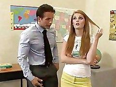Horny Redhead Student Fucks Her Teacher