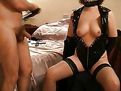 Mrs Snd Amp  039 S Tits And Nips Get A Light Whipping In Pvc
