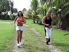 Outdoor Hardcore Fun With Sporty Sluts With Big Tits