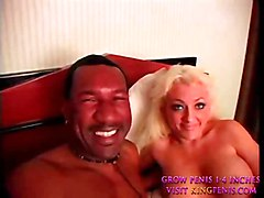 Blonde Bitch Milking Black Cock  1