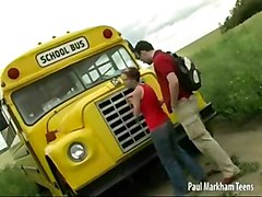 Couple In Front Of A Bus