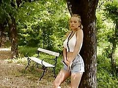 German Lady Has Double Outdoor Fun