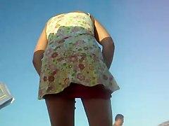 Women Changing On The Beach Upskirt