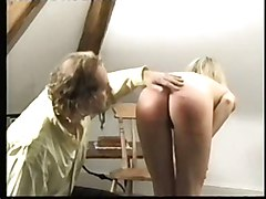 Naked Blonde Caning