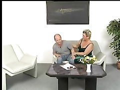 Chubby Granny In White Stockings Sucks And Fucks