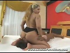 Big Tit Mistress Anita Ferrari Smothers Girlfriend