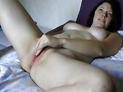 Horny Babe Fucked In Bed