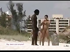 Very Sexy Hung Black Guy On Nude Beach With White Girl