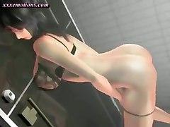 Animated Brunette Masturbating Herself