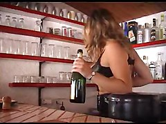 French Milf Fucked By A Big Cock And A Bottle Of Champagne
