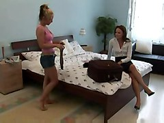 Lingerie Saleswoman Seduces Client