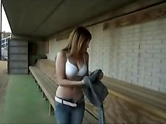 Nude At Baseball Field