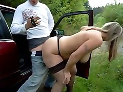 Big Ass German Mature Fucks Outdoor