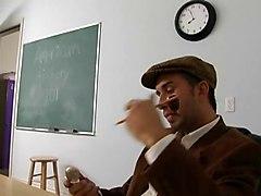 Nasty Blonde Schoolgirl Fucks Her Teacher In The Classroom