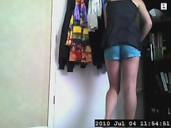 Hot Blond Changing Panties After Hot Shower