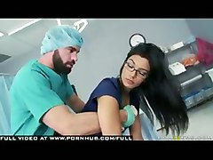 Black Haired Hot Doctor In Stockings  Glasses Fantasizes Over Er Nurse