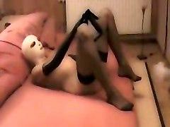 Girl In Latex Blow