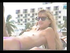 Beach Voyeur Video   Mature Woman Topless