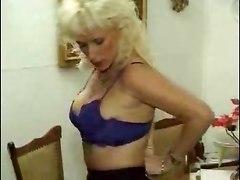 German Mature Fucked In Her Kitchen