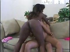 Ebony Lesbos Mad Threesome