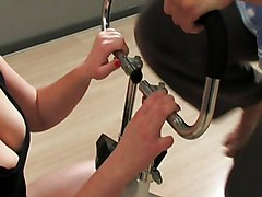 German Chick Fucked In Gym