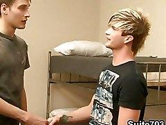 Dorm Roommates Enjoy Gay Loving