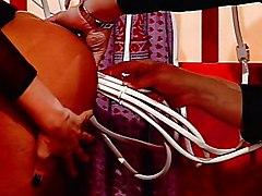 Horny Babe Inserts Enema Inside Her Vagina