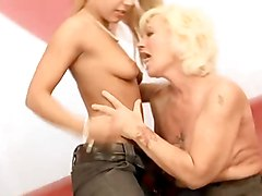 Young Girl Takes It Up The Ass From Granny- Ose