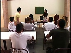 Hot Teacher Double Stuffed By A Student And A Shamale