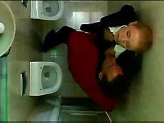 Blonde Student In Men Amp  039 S Toilet