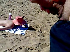 Jerking, Cumming And Abusing Girl On The Beach
