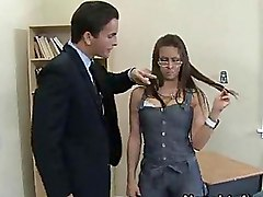 Student Gives Her Teacher A Blowjob In Class