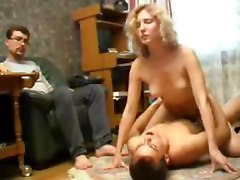 Young Wife Fucked By Husband And Father
