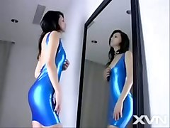 Maria Ozawa In Blue Latex Dress