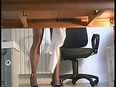 Matilde Playing Underdesk