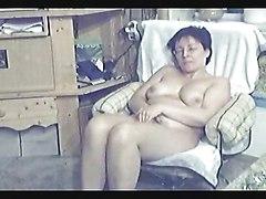 My Mum Home Alone  Hidden Cam In Livingroom