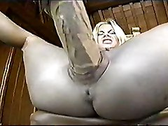 Real Big Dildo Into Pussy